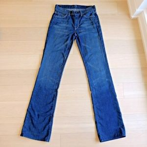7FM Stretch Denim 'Jagger' Blue Flare Jeans